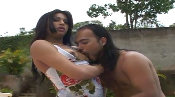 Nasty Dude Drills Tranny In Wet Ass